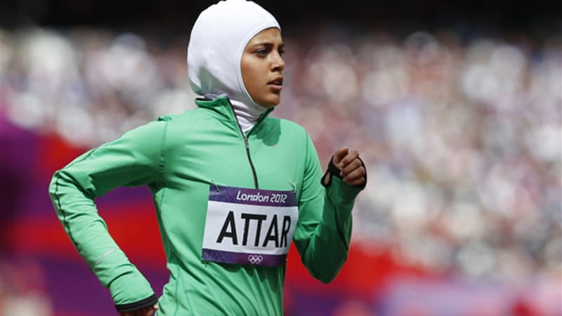 She may have finished last and more than half a minute slower than her nearest competitor in the 800-metre heats, but Saudi Arabia's first female Olympian received a standing ovation as she crossed the finish line, earning a place in the history books [EPA]