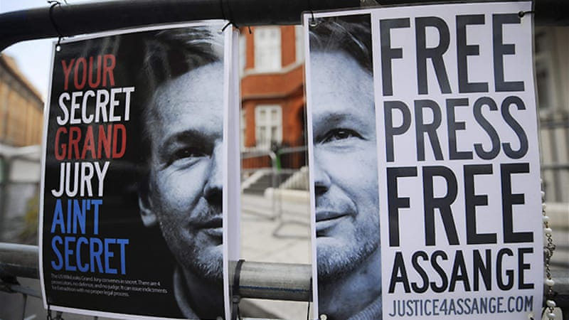 Assange has been accused of supplying information to officials in Belarus [REUTERS]