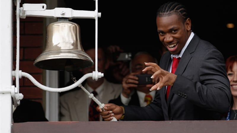Jamaican gold medallist Yohan Blake rang the opening bell on the first day of the final Test at Lord's Cricket Ground on Thursday [GALLO/GETTY]