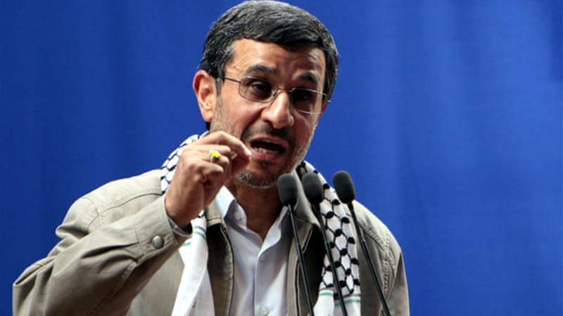 Iranian President Ahmadinejad said that Israel was a 'cancerous tumour' that would one day cease to exist [EPA]