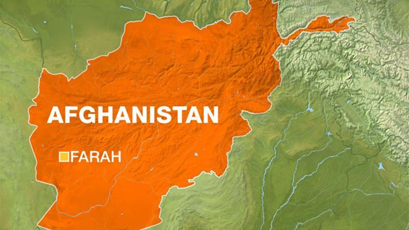 Map of Afghanistan with Farah province highlighted [Al Jazeera]