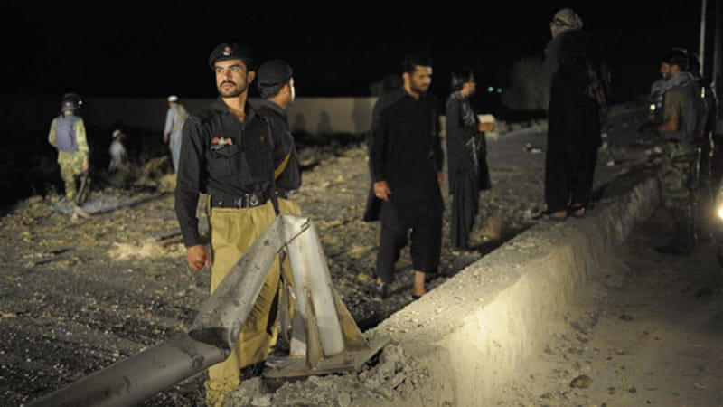 The blast targeted members of the Frontier Corps, a Pakistani paramilitary force [AFP]