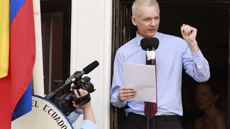 WikiLeaks founder Assange has been granted asylum by Ecuador, but remains trapped in its embassy in London [Reuters]