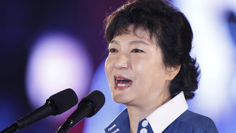 Park Geun-hye is the daughter of Park Chung-Hee, accused of widespread rights abuses during his rule [Reuters]