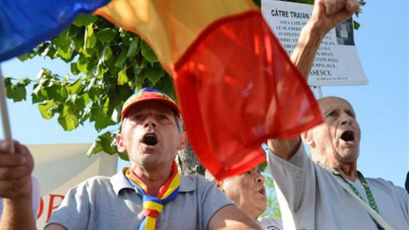 Only 46 per cent of the Romanian electorate took part in the July 29 referendum against Basescu [AFP]