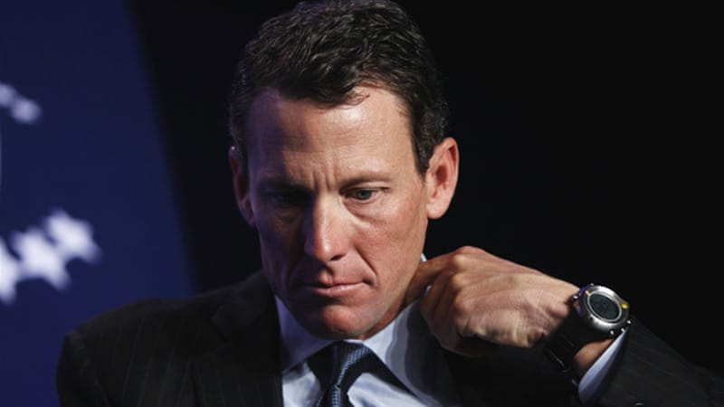 "Public denial: Armstrong's attorney called the report a ""one-sided hatchet job"" [Reuters]"