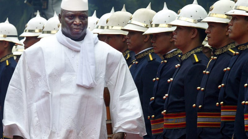 Jammeh brooks no dissent in a country often blasted by rights bodies for abuses [EPA]