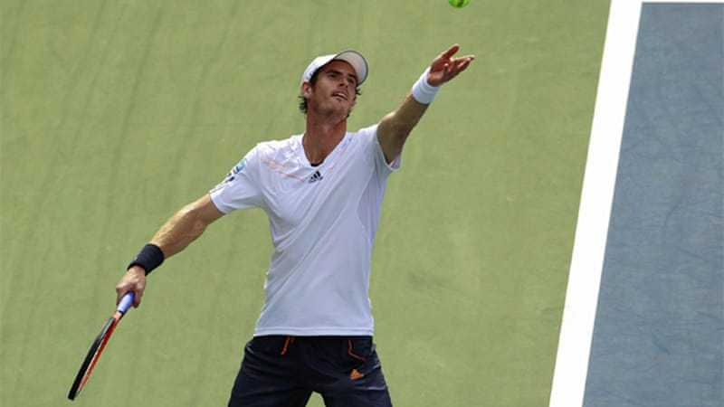 Olympic champion Murray got off to a slow start with the match beginning with four consecutive breaks of serve [Reuters]