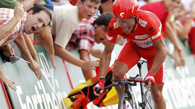 Rodriguez is one second ahead of 2008 champion Alberto Contador who is returning from a two-year drugs ban [Reuters]