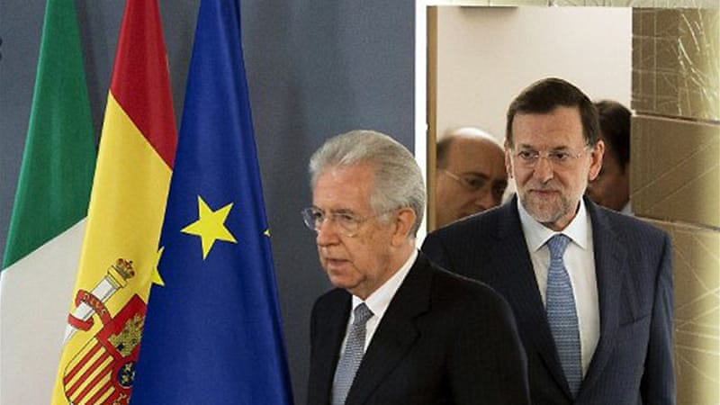 Spain's Rajoy sets condition for bailout