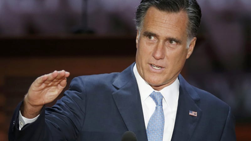 "No amount of corporate-funded Tea Party populist spin will be able to ""scrub the smell of class warfare, of the one per cent conspiring against everyone else"", clean from Romney's campaign [REUTERS]"
