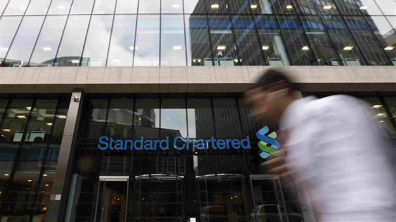 The Standard Chartered bank made a pre-tax profit of $6.8bn in 2011 [Reuters]