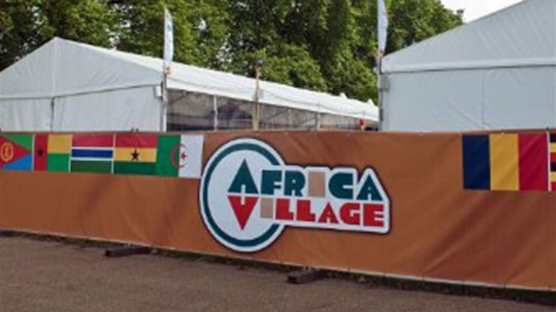 Twenty countries under the Association of National Olympic Committees of Africa had sponsored the venue intended to showcase their culture and attract tourists [AFP]