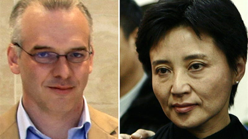 British businessman Neil Heywood (L) had close business ties to Gu Kailai (R) and her husband  [Reuters]