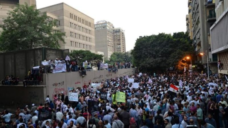 Thousands have protested the film outside the US embassy in Cairo  [AFP]