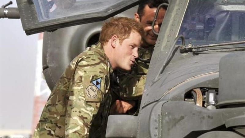 Britain's Prince Harry is on his second tour of duty in Afghanistan where he is based as a helicopter pilot [AP]