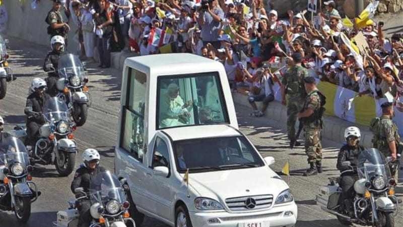 Security is tight for the first papal visit to Lebanon in 15 years [EPA]