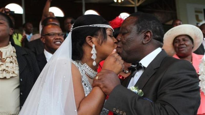 Tsvangirai had originally planned to marry under monogamous laws but his ex-lover went to court to stop it [EPA]