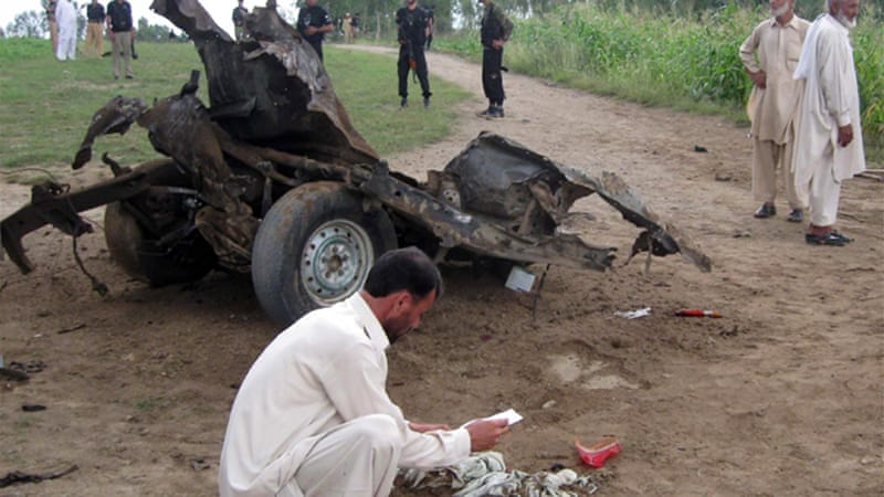 Local officials said that the van was targeted because members of a local anti-Taliban group were on board [AFP]