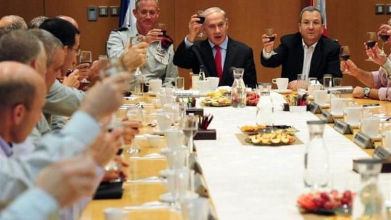 "Israeli leaders toast the Jewish new year, which began sundown on Sunday, hoping for ""stability amidst storms"" [EPA]"