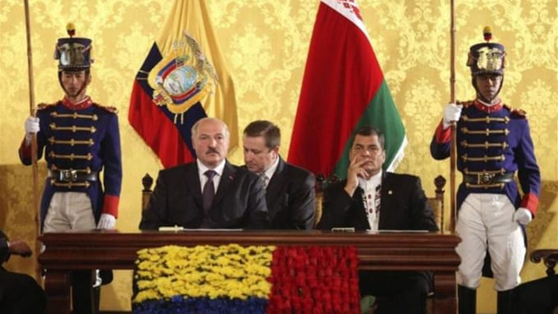 The leftist government in Quito carried out a strategic alliance with Belarus leader Alexander Lukashenko [REUTERS]