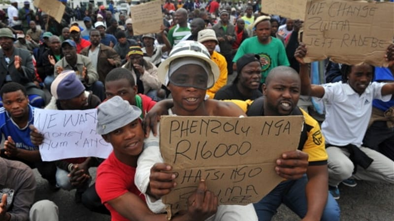 The Marikana massacre in late 2012 drew comparisons with apartheid era police brutality [Getty Images]