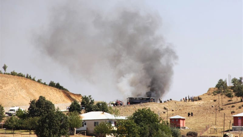 The attack came a day after Turkey's prime minister said 500 PKK fighters had been killed in the past month [AFP]