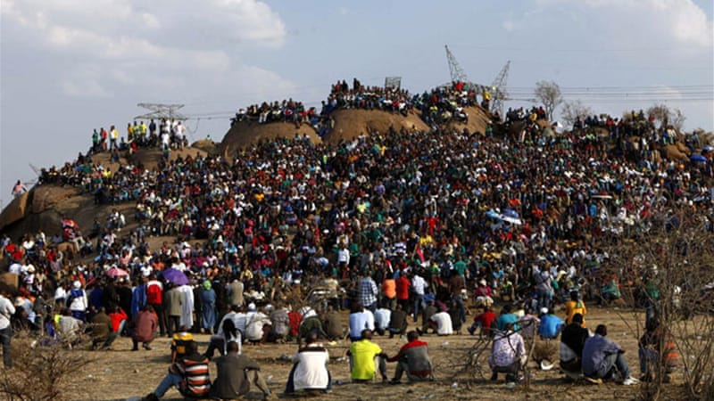 Unrest at South African mines have spread since the Lonmin strike in Marikana in August 2012. [Reuters]
