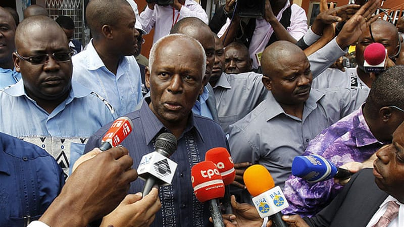 Jose Eduardo dos Santos  has often been accused of suppressing human rights during his 34-year rule [Reuters]