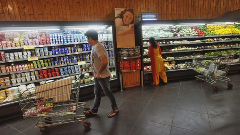 Indian arrival of chains such as Walmart, Carrefour and Tesco is expected to herald a consumer revolution [Reuters]
