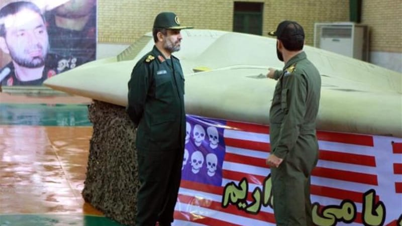 General Amir-Ali Hajizadeh, left, said Israel would not attack Iran unless it had been given US support [EPA]