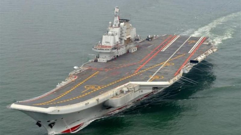 The Liaoning, formerly known as the Varyag, was constructed in the 1980s for the Soviet navy [AFP]