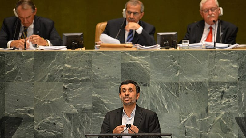 Mahmoud Ahmadinejad's previous speeches at the UN have provoked walkouts by other countries [AFP]