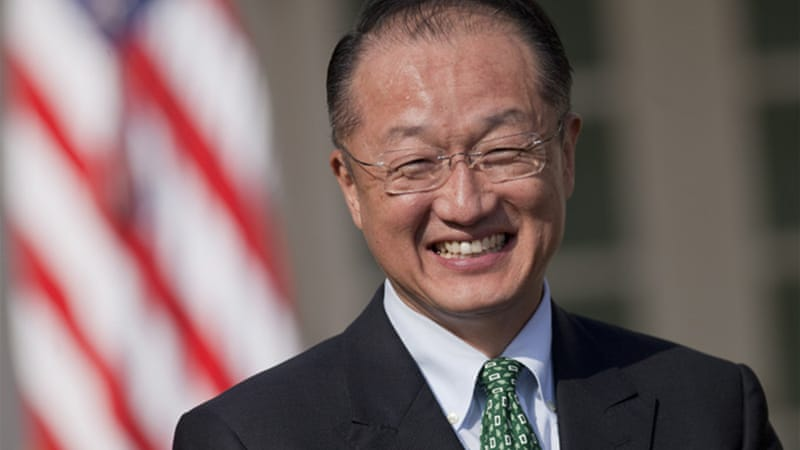The World Bank is headed not by a US military boss or a Wall Street executive, but by an actual expert in the field of development - Jim Yong Kim [EPA]