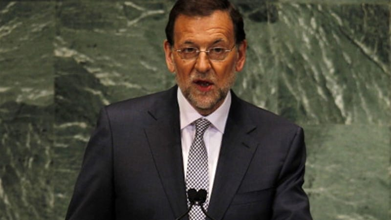 Mariano Rajoy announced austerity cuts in a strict 2013 budget on Thursday [GALLO/GETTY]