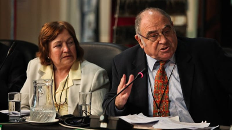 "Writer and anti-apartheid activist Ronnie Kasrils says: ""I am one of many Jews internationally, and in Israel itself, who declare 'Not in my name'"" [Russell Tribunal UK/Sumaya Hisham]"