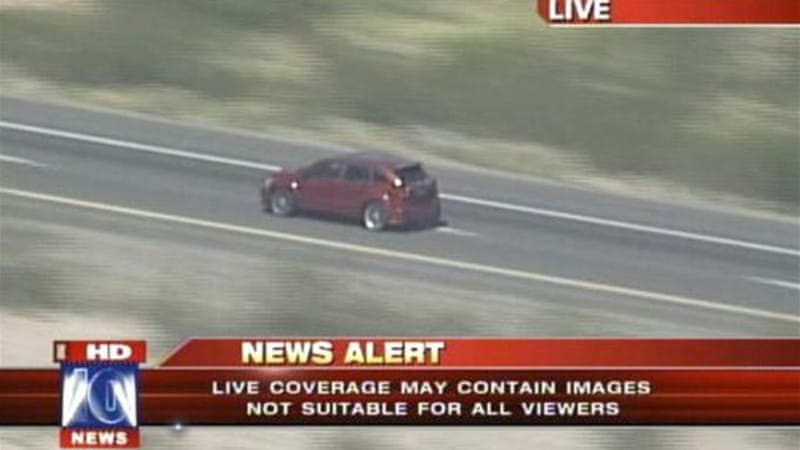 Fox News on Friday was covering a high-speed chase in Phoenix, Arizona state [Al Jazeera]
