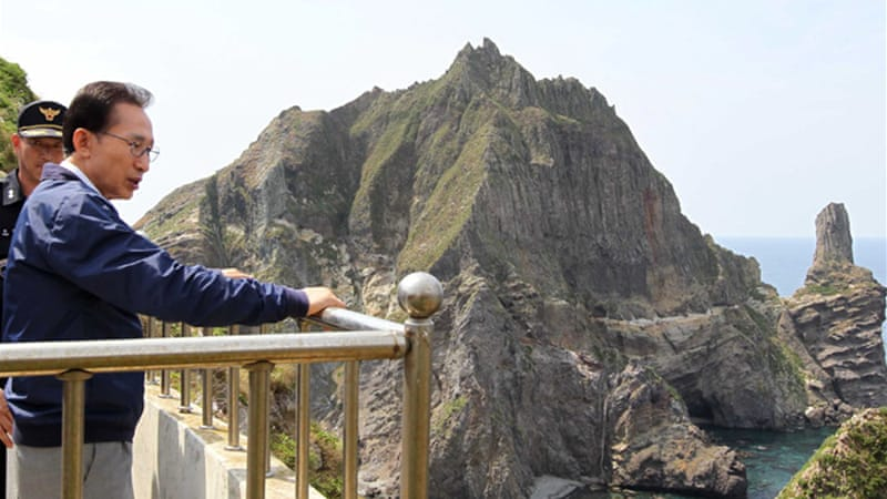 On August 10, South Korean President Lee Myung-bak visited the island of Takeshima (called Dokdo in Korean), which has been the subject of a territorial dispute between Japan and South Korea for 60 years [EPA]