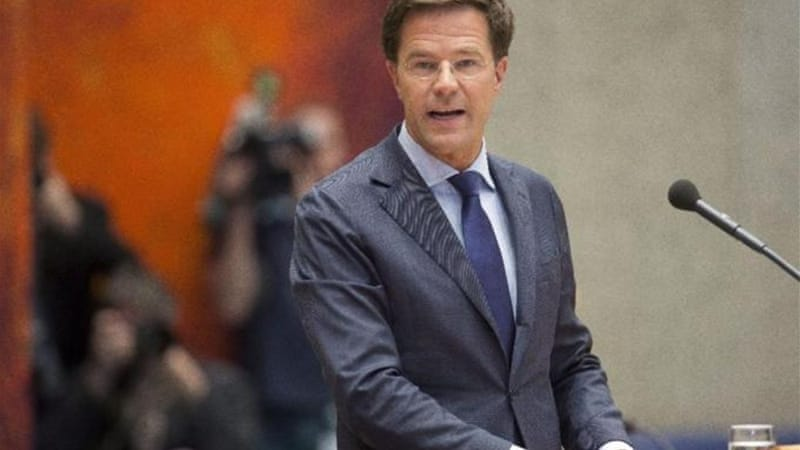 Dutch Prime Minister Mark Rutte may well loose his position to his rival Diederik Samsom of the Labour Party [EPA]