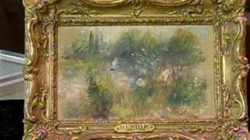 A Renoir plaque on the frame prompted the buyer to have it analysed by a local auction house [Reuters]