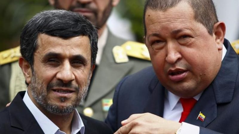 Allegations that Iran's hemispheric encroachment is being facilitated by left-leaning Latin American regimes, specifically that of Chavez, have spawned a composite green-and-red Islamo-Bolivarian menace [Reuters]
