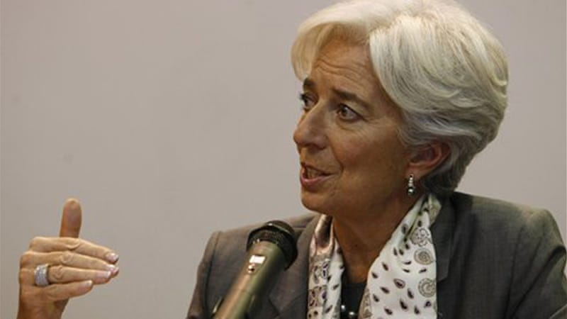 Christine Lagarde, head of the International Monetary Fund, lauded the creation of the bank [AP]