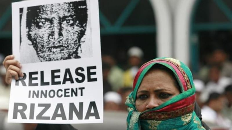 Protesters in Sri lanka were calling for Nafeek's release after she was convicted of killing a child [Reuters]