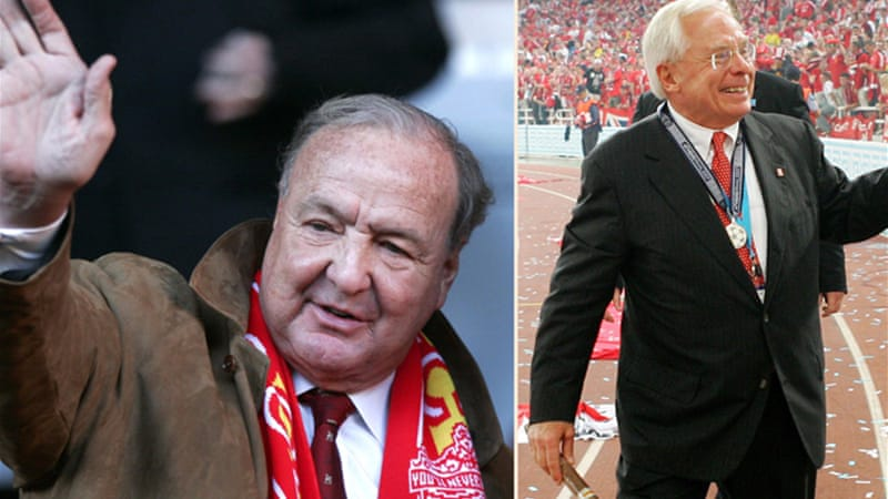 Hicks, pictured left, and Gillett, pictured right, lost control of Liverpool in 2010, alleging that club directors and a bank had conspired to sell the club at a reduced price [EPA]