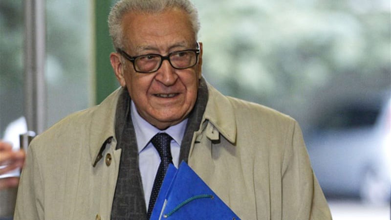 Brahimi says he does not expect a political solution to Syria crisis to emerge anytime soon  [Reuters]