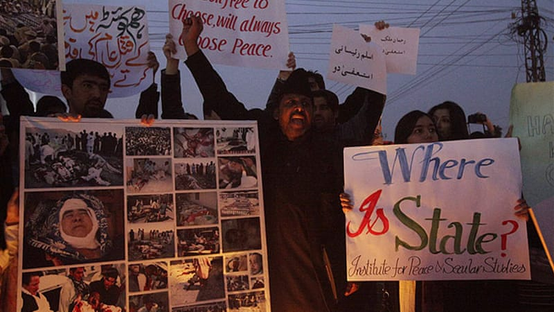 Protests were also held in the cities of Lahore, Karachi and the capital of Islamabad in solidarity with Shias [Reuters]