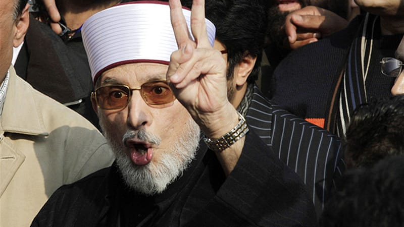 Qadri has said his followers will camp out with food, fuel and blankets until their demands are met [Reuters]