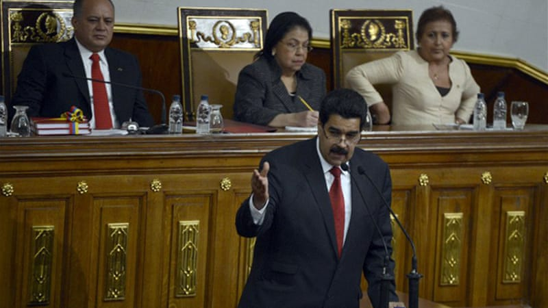 Hugo Chavez has designated Vice President Maduro as the country's caretaker in his absence [AFP]