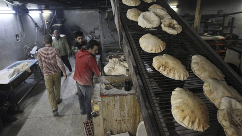 Shortages of fuel and flour have made bread production erratic across the country [Reuters]