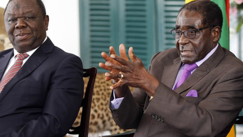 Tsvangirai, left, and Mugabe's relations have been marked by bickering and counter-accusations of violence [Reuters]